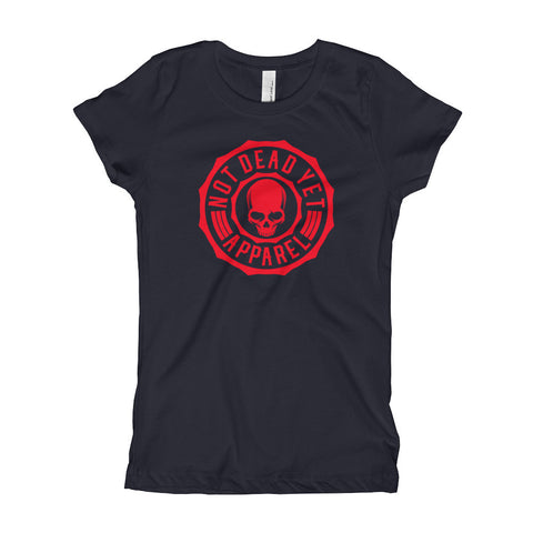 RED LOGO Girl's T-Shirt - Not Dead Yet Apparel