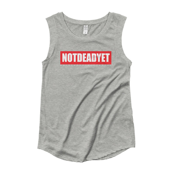NOTDEADYET Ladies' Cap Sleeve T-Shirt - Not Dead Yet Apparel