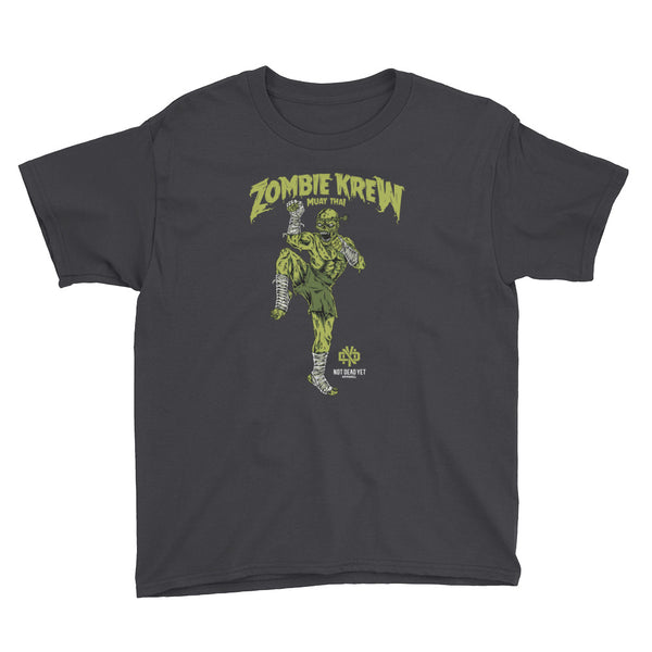 ZOMBIE KREW MUAY THAI Youth Short Sleeve T-Shirt - Not Dead Yet Apparel