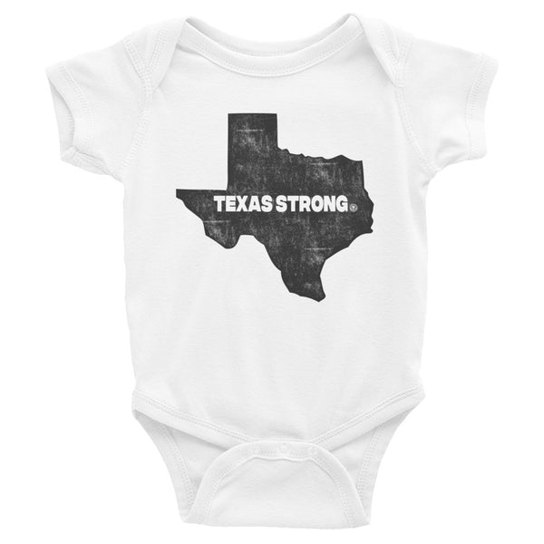 TEXAS STRONG - Hurricane Harvey Relief Infant Bodysuit - Not Dead Yet Apparel