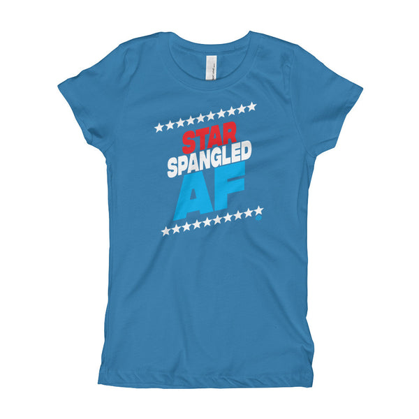 STAR SPANGLED AF Girl's T-Shirt - Not Dead Yet Apparel