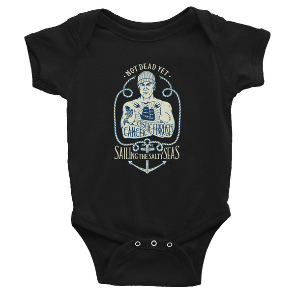 SAILING THE SALTY SEAS Infant Bodysuit - Not Dead Yet Apparel