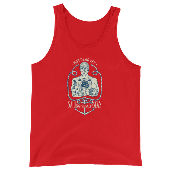 SAILING THE SALTY SEAS Unisex  Tank Top - A benefit tank for Mike Skoyec - Not Dead Yet Apparel