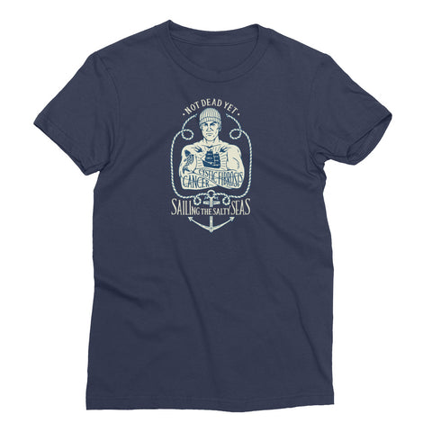 SAILING THE SALTY SEAS Women's Short Sleeve T-Shirt - A benefit tee for Mike Skoyec - Not Dead Yet Apparel