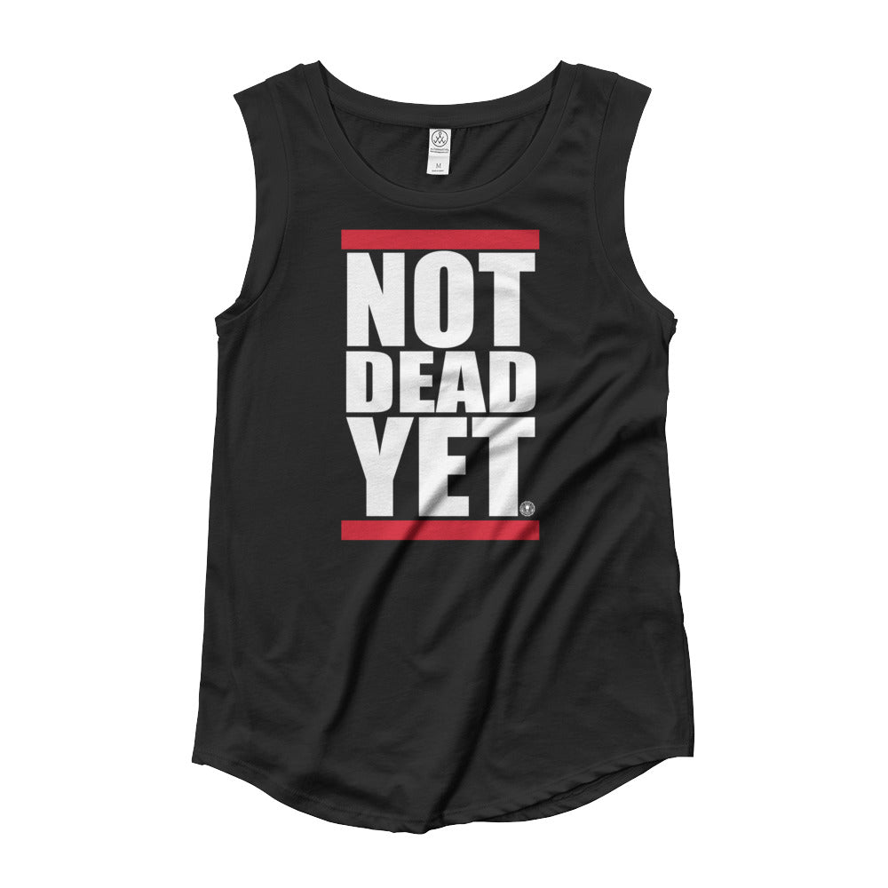 NOT DEAD YET BOLD Ladies' Cap Sleeve T-Shirt - Not Dead Yet Apparel