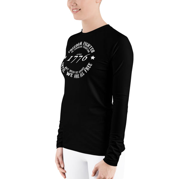 FREEDOM FIGHTER 1776 Women's BJJ Rash Guard - Not Dead Yet Apparel