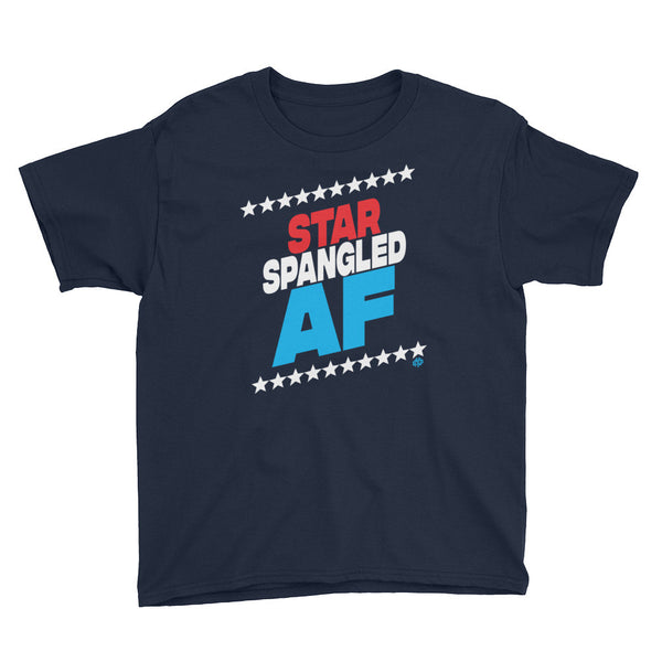 STAR SPANGLED AF Youth Short Sleeve T-Shirt - Not Dead Yet Apparel