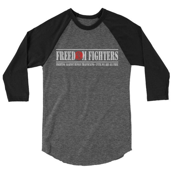 FREEDOM FIGHTERS STENCIL Unisex Raglan - Not Dead Yet Apparel