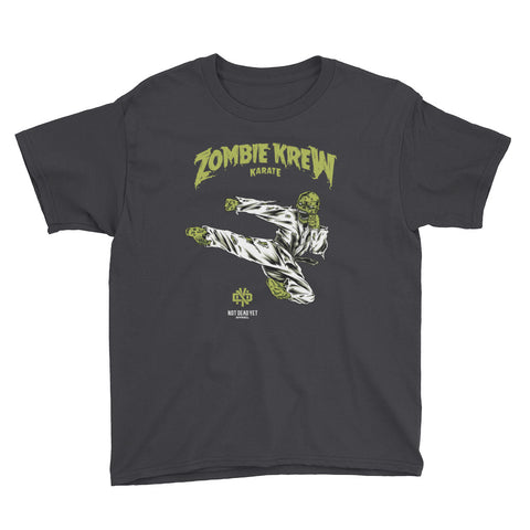 ZOMBIE KREW KARATE Youth Short Sleeve T-Shirt - Not Dead Yet Apparel