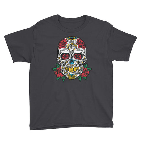 SUGAR SKULL Youth Short Sleeve T-Shirt - Not Dead Yet Apparel
