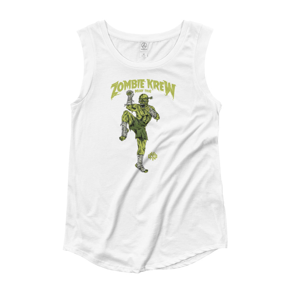 ZOMBIE KREW MUAY THAI Ladies' Cap Sleeve T-Shirt - Not Dead Yet Apparel