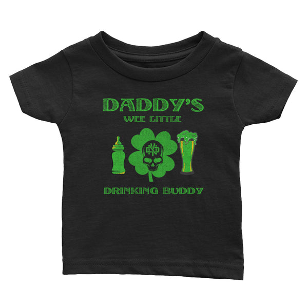 WEE LITTLE DRINKING BUDDY Infant Tee - Not Dead Yet Apparel
