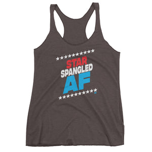 STAR-SPANGLED AF Women's tank top - Not Dead Yet Apparel
