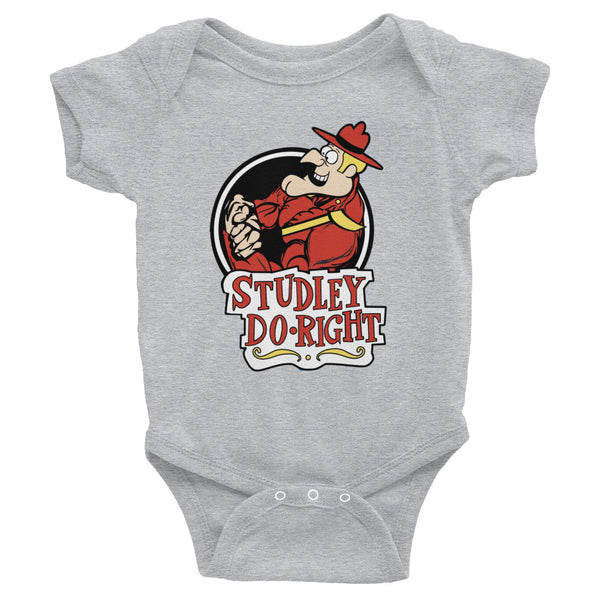 Studley Do-Right Infant Bodysuit - Not Dead Yet Apparel