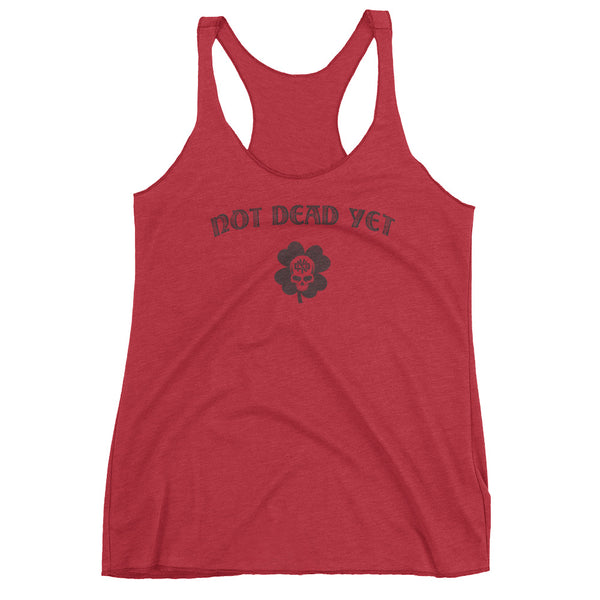 LUCKY Women's Racerback Tank - Not Dead Yet Apparel