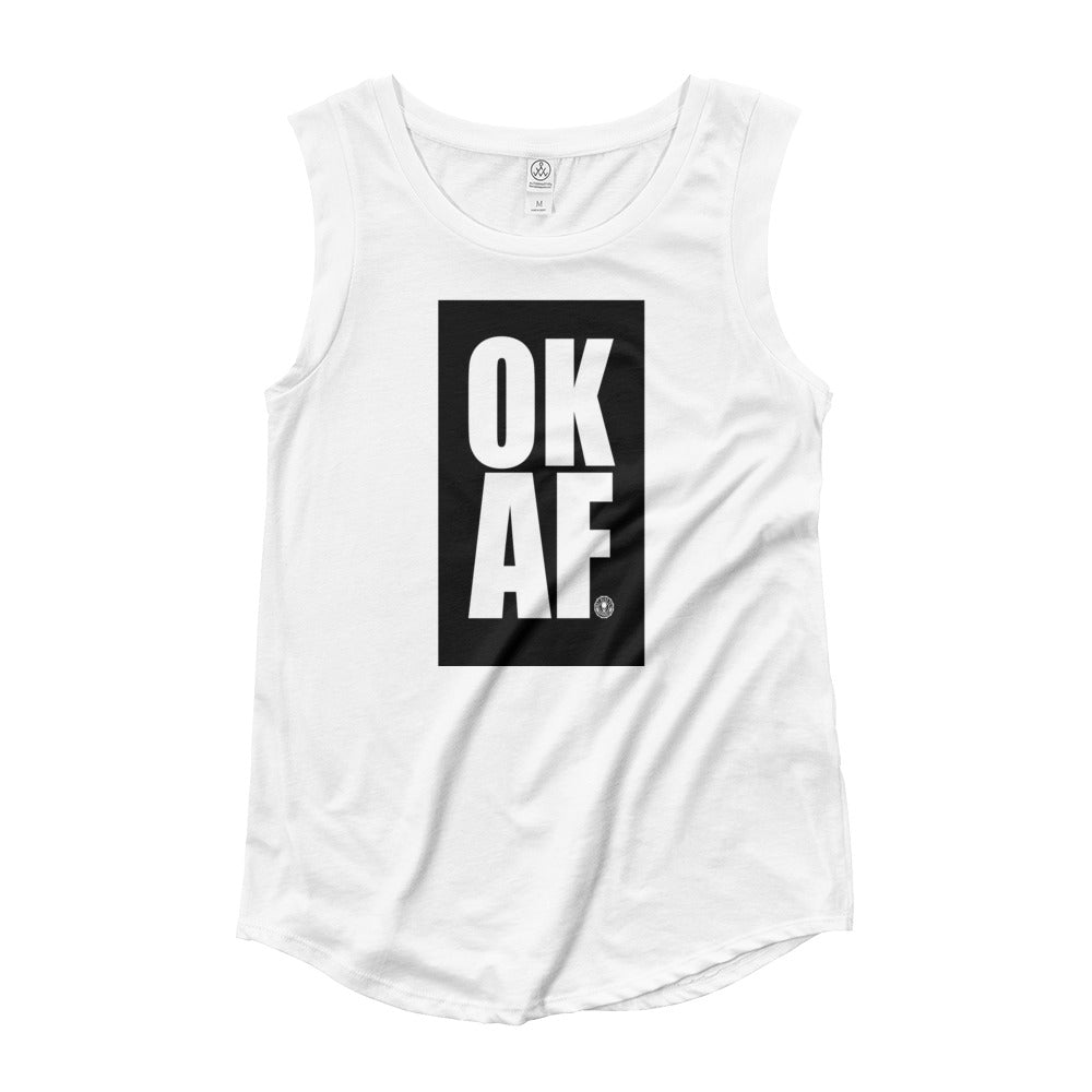 OKAF Ladies' Cap Sleeve T-Shirt - Not Dead Yet Apparel