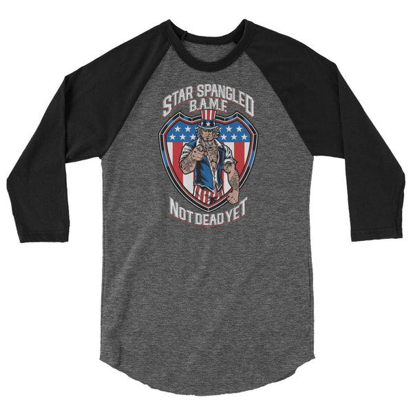 STAR SPANGLED BAMF Unisex Raglan - Not Dead Yet Apparel