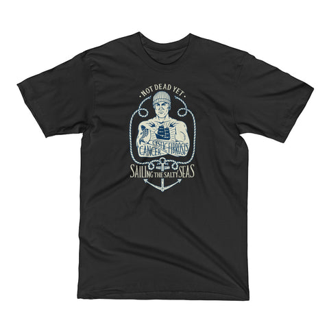 SAILING THE SALTY SEAS - A benefit tee for Mike Skoyec - Not Dead Yet Apparel