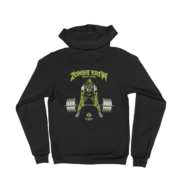 ZOMBIE KREW WEIGHTLIFTING Hoodie sweater - Not Dead Yet Apparel