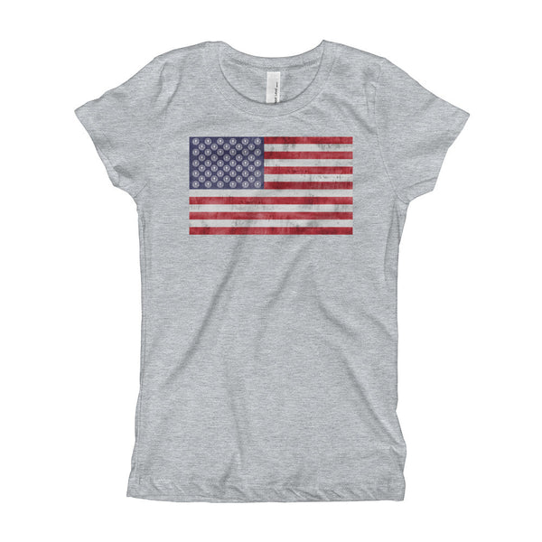 NDYA FLAG Girl's T-Shirt - Not Dead Yet Apparel