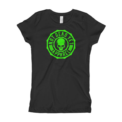 NEON GREEN LOGO Girl's T-Shirt - Not Dead Yet Apparel