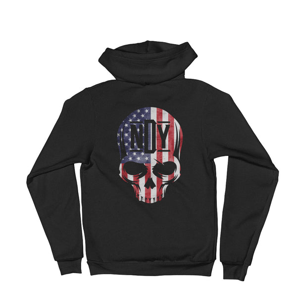 Star Spangled Skull Hoodie sweater - Not Dead Yet Apparel