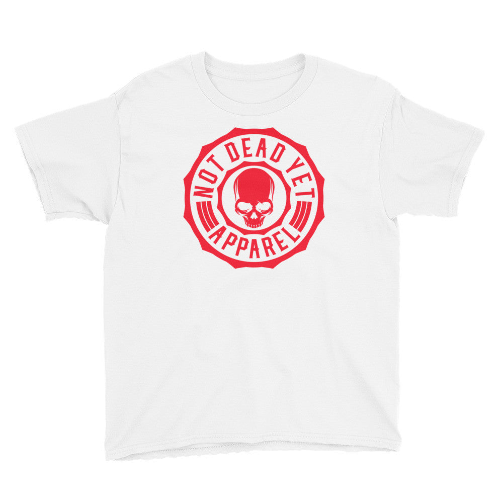 RED LOGO Youth Short Sleeve T-Shirt - Not Dead Yet Apparel