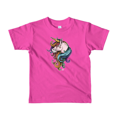 UNICORN! (Ain't Nuthing Ta Mess' Wit)Short sleeve kids t-shirt - Not Dead Yet Apparel