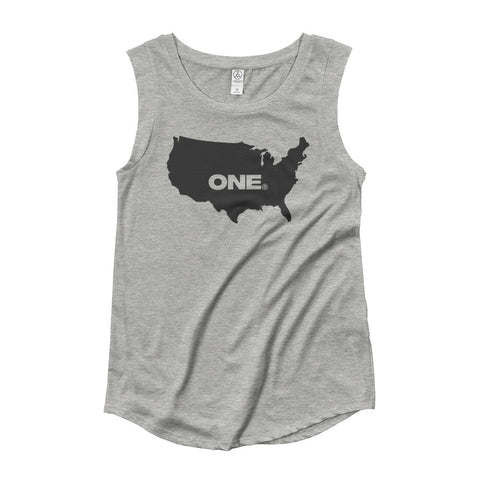 ONE (America) - Ladies' Cap Sleeve T-Shirt - Not Dead Yet Apparel