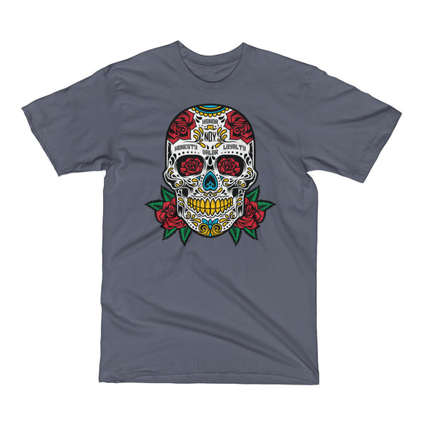 SUGAR SKULL 2.0 Men's Short Sleeve T-Shirt - Not Dead Yet Apparel