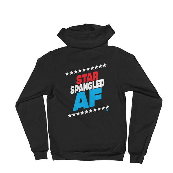 STAR SPANGLED AF Hoodie sweater - Not Dead Yet Apparel