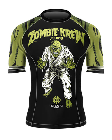 SHORT SLEEVE ZOMBIE KREW BJJ RASH GUARD - Not Dead Yet Apparel