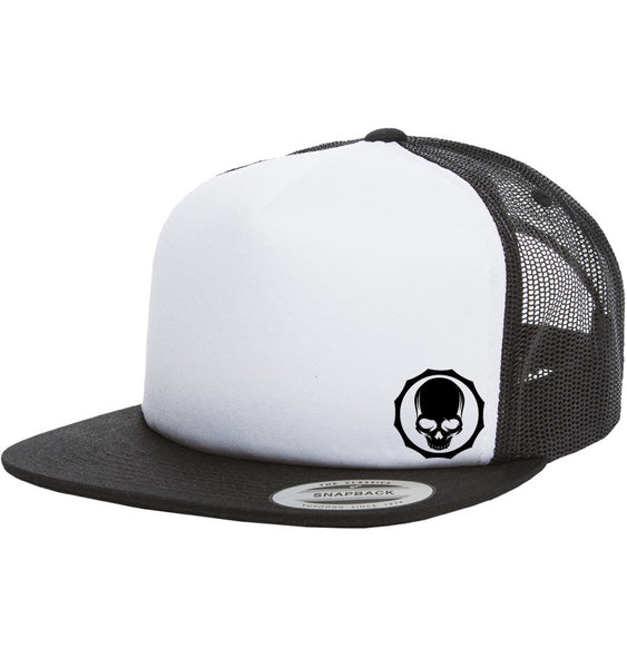 SMALL SKULL trucker hat - Not Dead Yet Apparel
