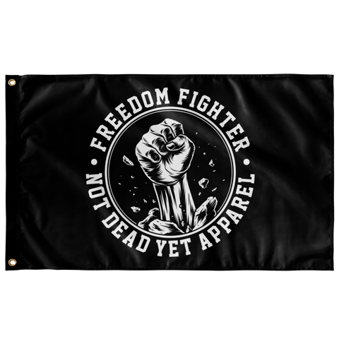 FREEDOM FIGHTER FLAG - Not Dead Yet Apparel