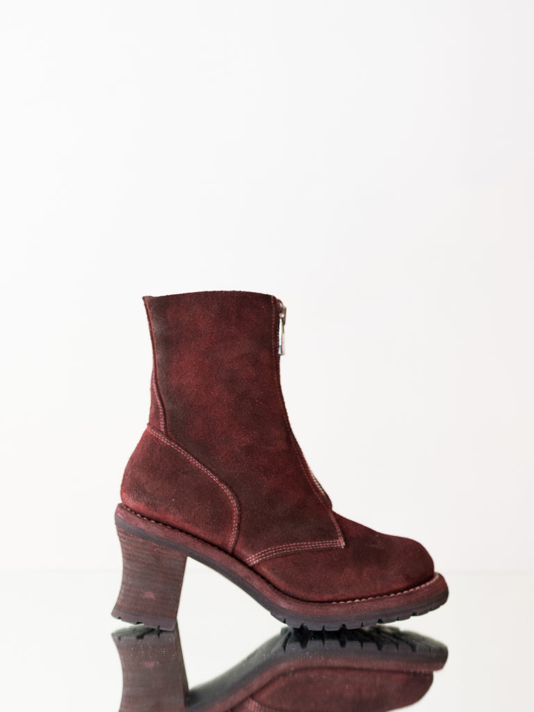 BURGANDY MILITARY BOOT, No. 5408FZ