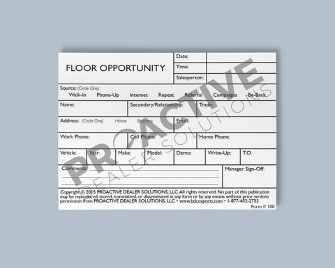 Floor Opportunity Card