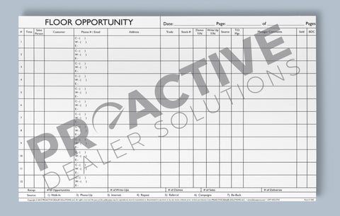 Floor Opportunity Log