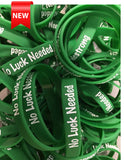 """No Luck Needed"" - BDC Strong Green Wristband"