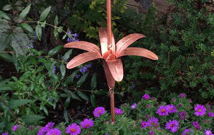 SOLID COPPER LILY STYLE