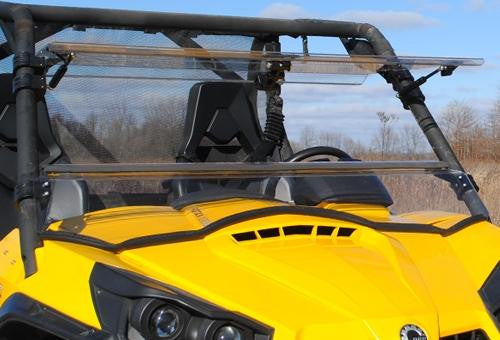 Can-Am Commander Scratch Resistant Flip Windshield