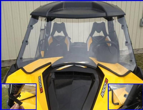 D.O.T. Approved Hard Coated Full Windshield w/ optional wiper - Can Am Maverick