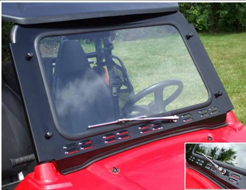 D.O.T. Approved Safety Glass Windshield w/ Wiper by EMP - RZR 570/800/S 800/XP 900