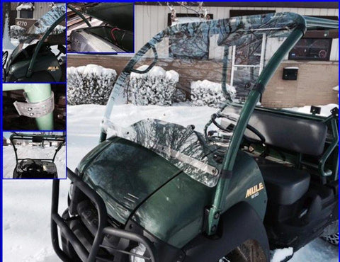 DOT Full Hard Coated Windshield by EMP - Kawasaki Mule 600 / 610