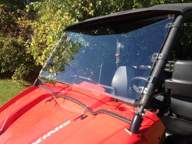 D.O.T. Rated Hard Coated Full Windshield by EMP - Yamaha Viking