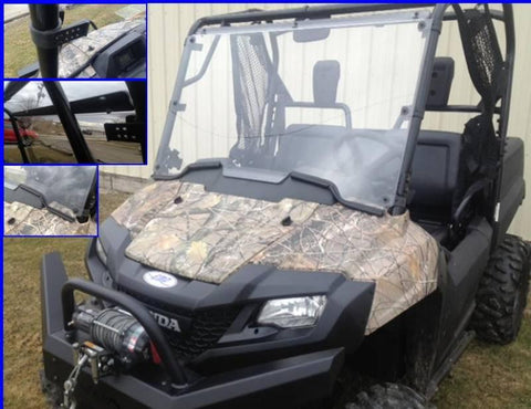 EMP D.O.T. Rated Hard Coated Full Windshield w/ optional wiper - Honda Pioneer 700