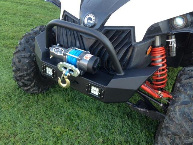 EMP Front Bumper w/ Winch Mount and LED Lights - Can Am Maverick