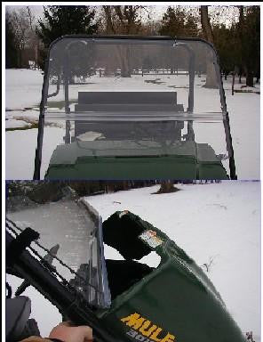 Flip Up Windshield - Kawasaki Mule 3000 / 3010