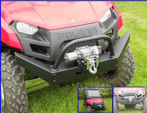 Front Bumper w/ Winch Mount - 2010-14 Mid Size Ranger 400/500/570/EV/800 and 500/570 Crew