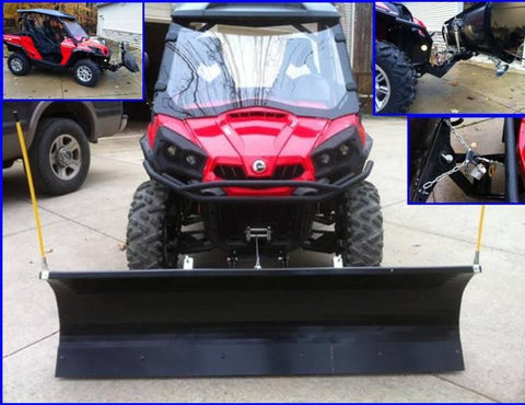 "Heavy Duty 72"" Snow Plow System by EMP - Can Am Commander"