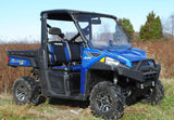 Polaris Ranger Fullsize 570/900 Scratch Resistant Vented Full Windshield : WS-P-RAN900-V-POLARIS-RANGER-VENTED-WINDSHIELD-2
